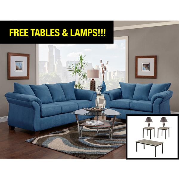 Affordable 6700 Sensations Cobalt Living Room Set