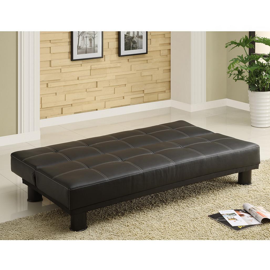 Crown Mark 5290 Collin Black Adjustable Sofa