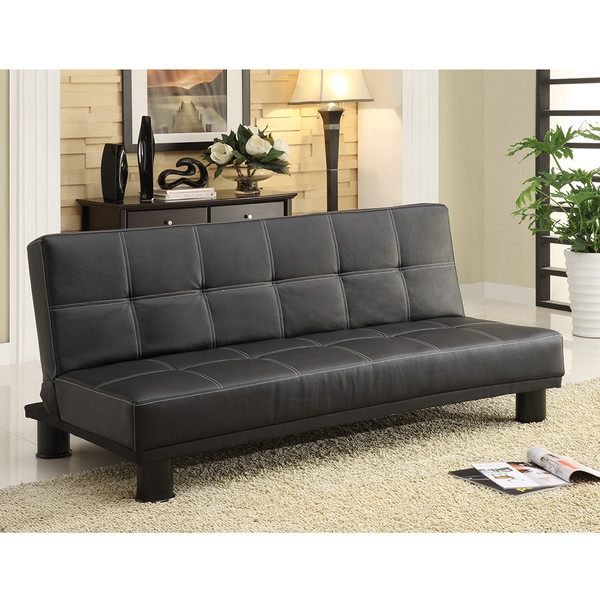 Crown Mark 5290 Collin Black Adjustable Sofa