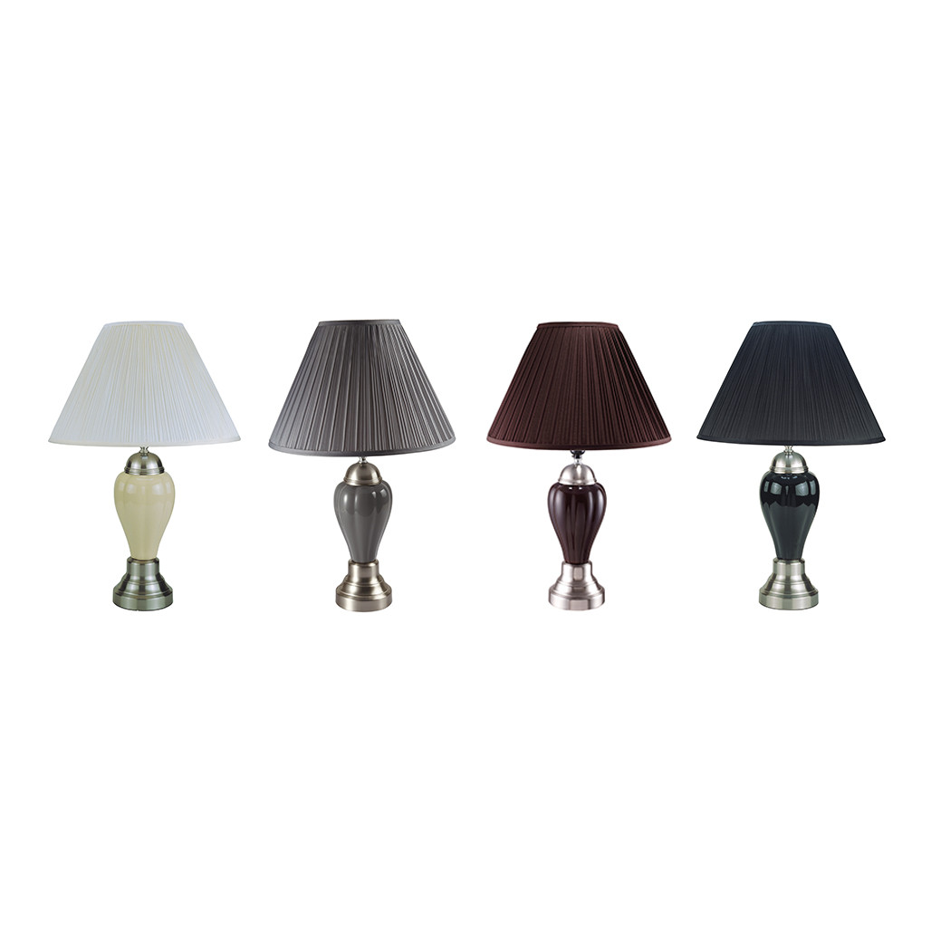 Crown Mark 6115 Lamps: Ivory, Grey, Espresso, and Black