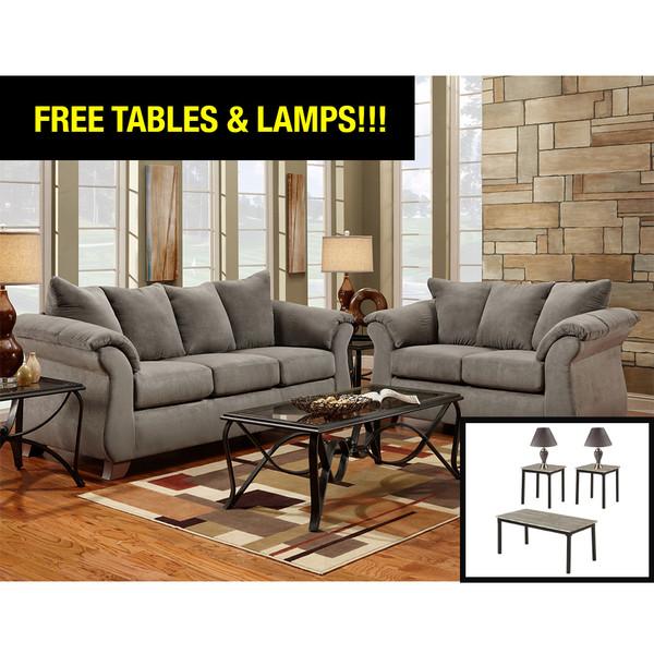 Affordable 6700 Sensations Grey Living Room Set