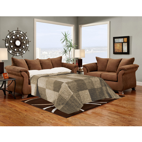 Affordable 6704 Aruba Chocolate Sleeper Sofa
