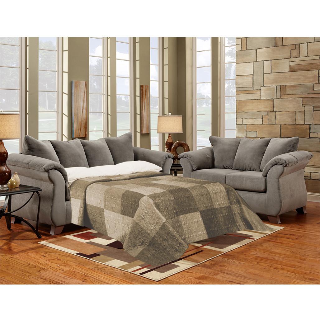 competitive price 230e3 41fce Affordable 6704 Sensations Grey Sleeper Sofa