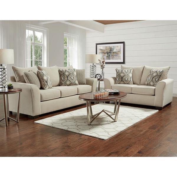 Affordable 5700 Ashton Khaki Sofa and Love
