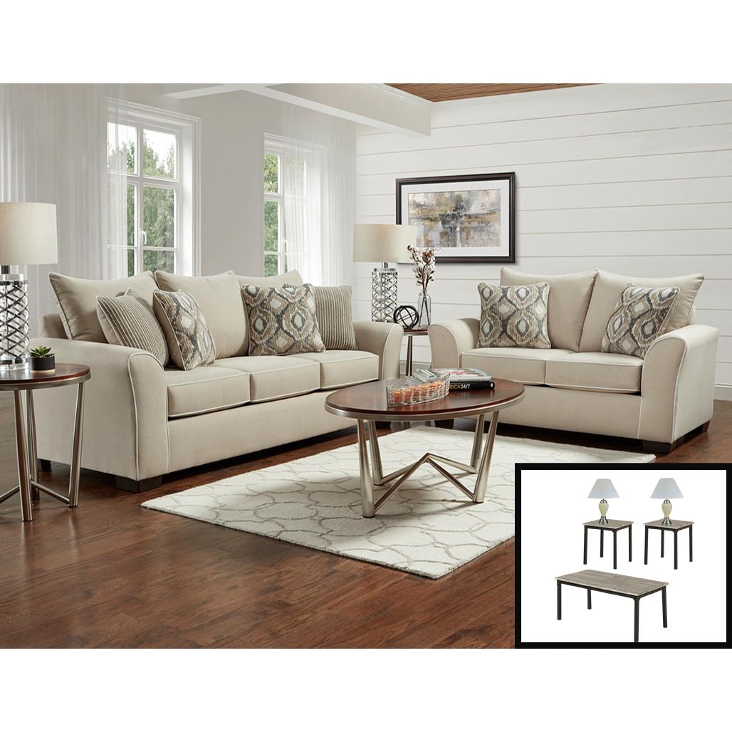 affordable 5700 ashton khaki living room set