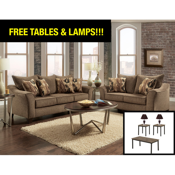Camero Café Living Room Set