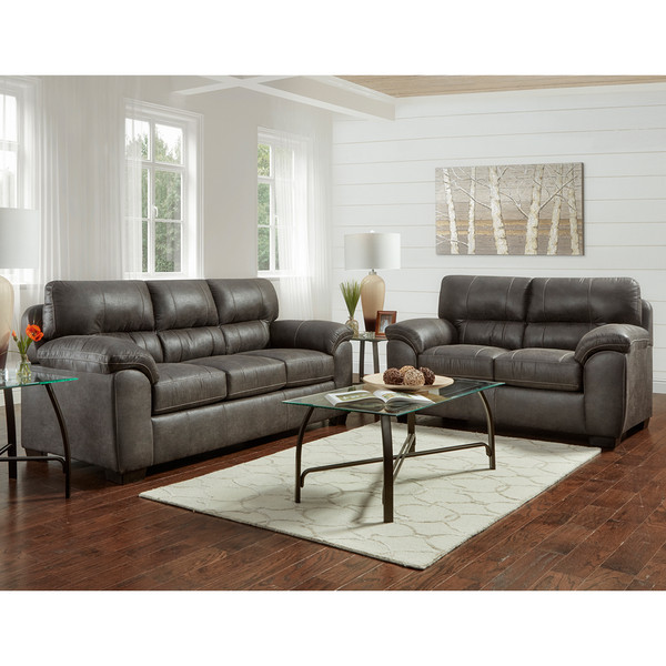 Affordable 5600 Sequoia Ash Sofa and Love