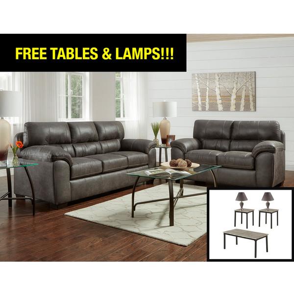 Affordable 5600 Sequoia Ash Living Room Set