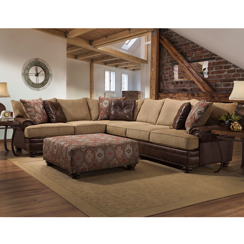 Excellent Albany 8649 Texas Canyon Sectional Machost Co Dining Chair Design Ideas Machostcouk