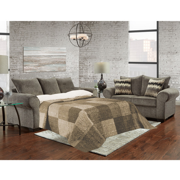 Affordable 7304 Camero Pewter Sleeper Sofa