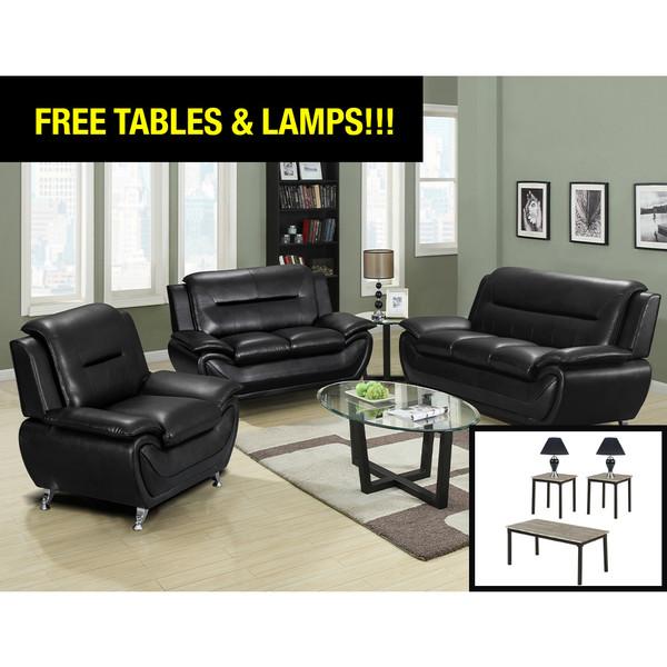 Happy Homes 868 Black Living Room Set