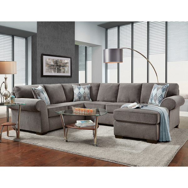 Affordable 3050 Charisma Smoke Sectional