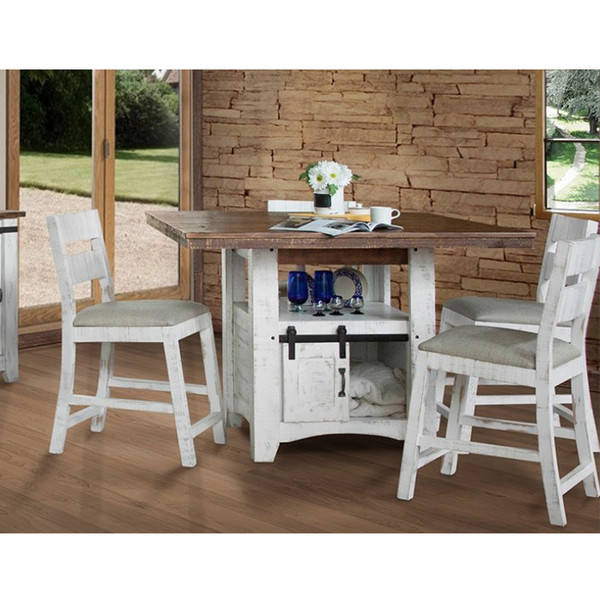 IFD 360 Pueblo White Dining Room Set