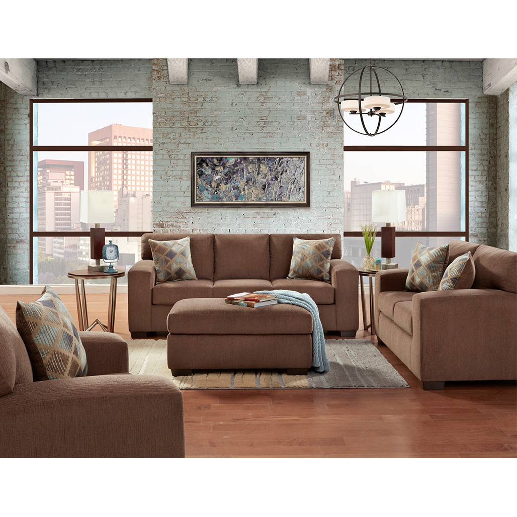 Affordable 5900 Charisma Cocoa Sofa and Love
