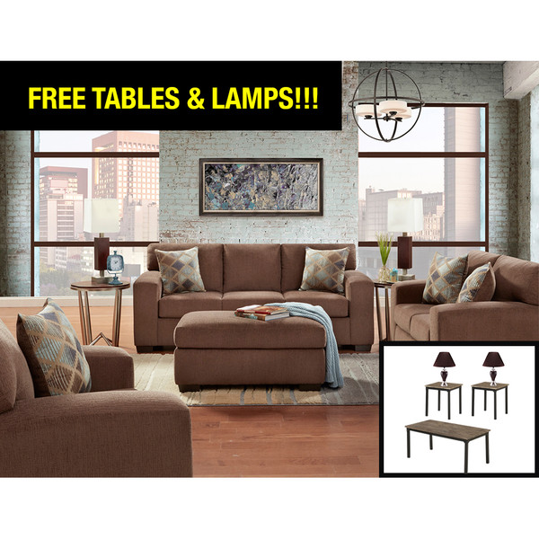 Affordable 5900 Charisma Cocoa Living Room Set