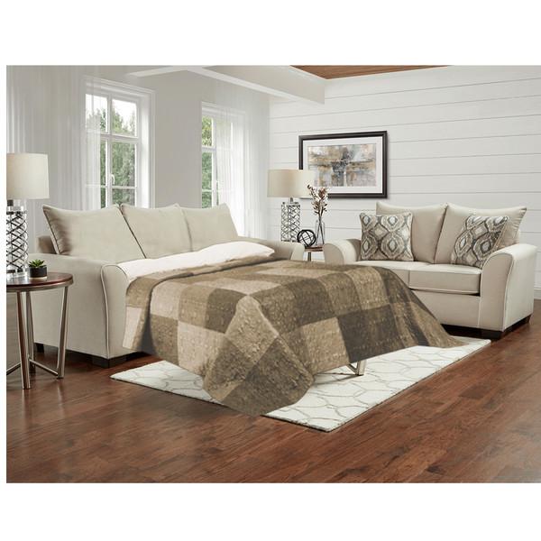 Affordable 5704 Ashton Khaki Sleeper Sofa