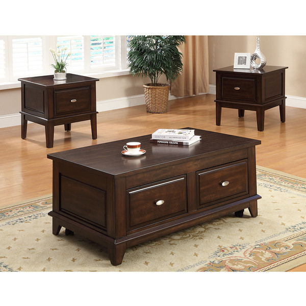 Crown Mark 4111 Harmon Coffee and End Tables