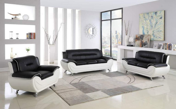 Black and White Sofa, Love, and Chair