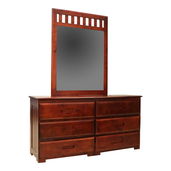 Donco 2800 Merlot Dresser and Mirror