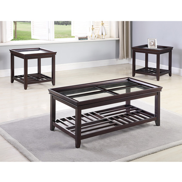 Crown Mark 4204 Connick Coffee and End Tables
