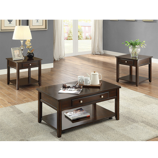 Crown Mark 4113 Julian Coffee and End Tables