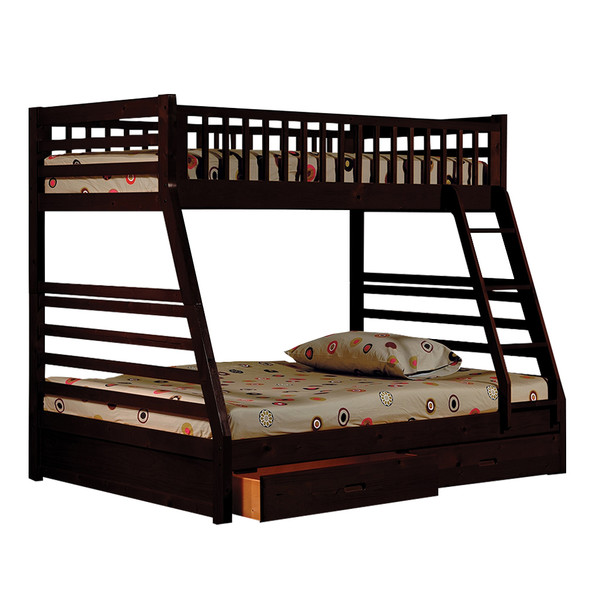 Happy Homes 20 Espresso Twin Full Bunk Bed