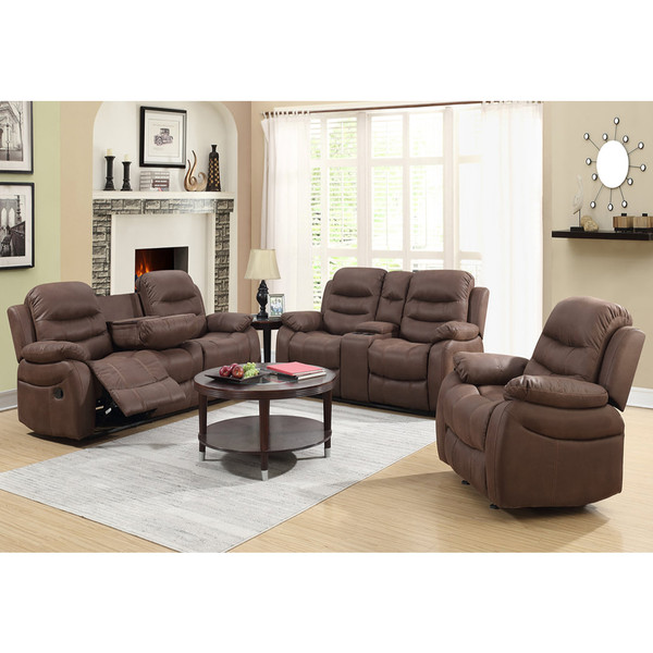 Brown Sofa, Love, and Recliner