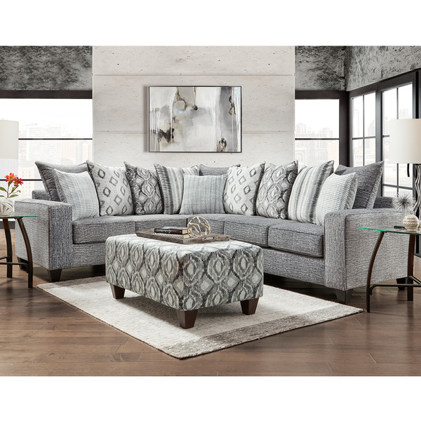 Stone Wash Charcoal Sectional