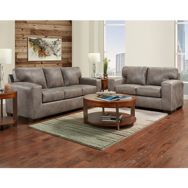 Affordable 5900 Telluride Latte Sofa and Love