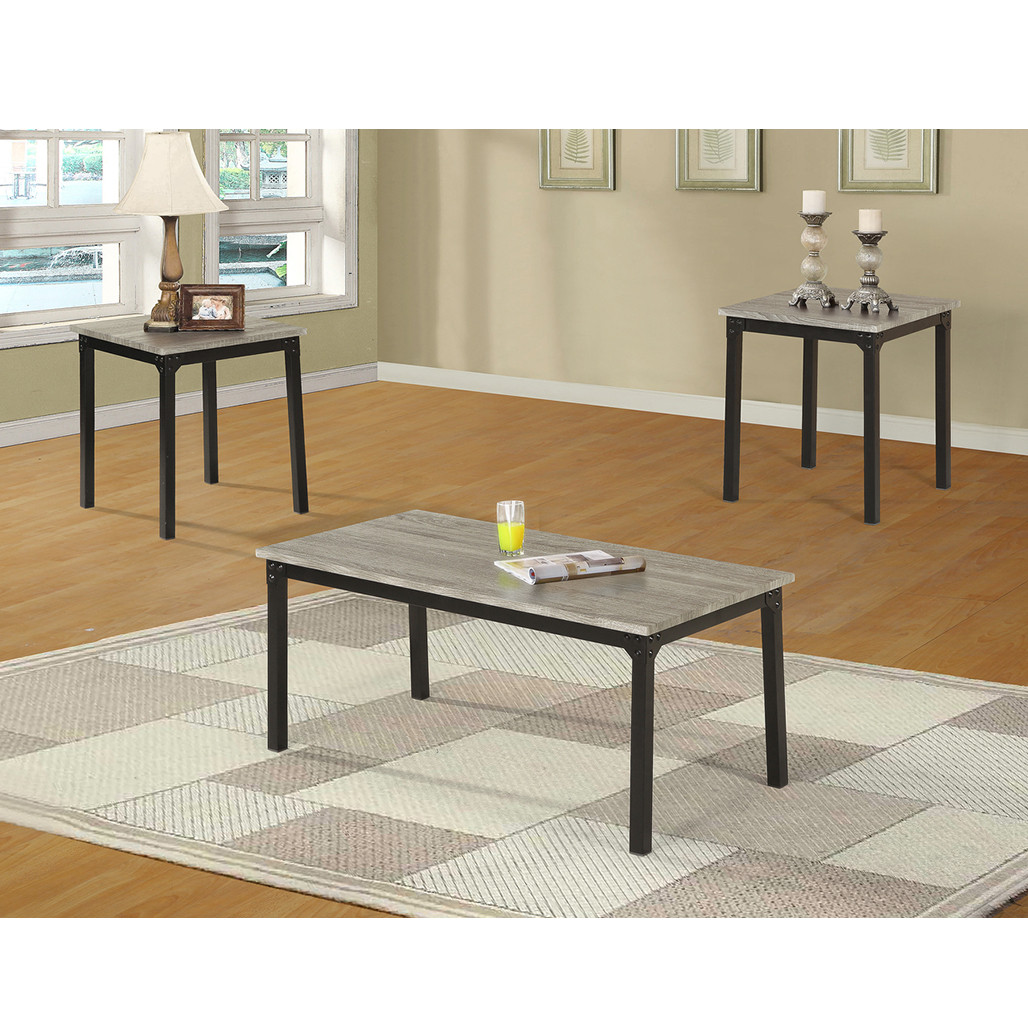 Liam Grey Coffee and End Tables
