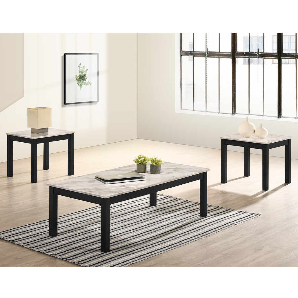 - Thurner White Coffee And End Tables