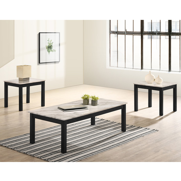 Thurner White Coffee and End Tables