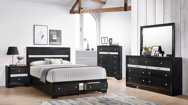 HANNAH BLACK BEDROOM SET