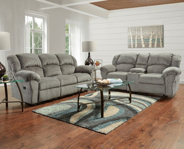Allure Grey Motion Sofa ONLY