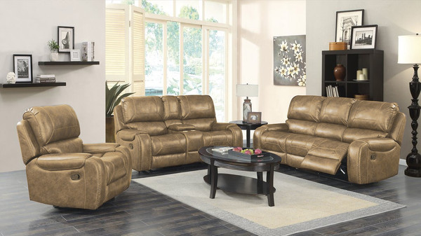 Saddlebag Cream Sofa, Love, and Recliner
