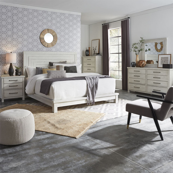 MODERN FARMHOUSE WHITE BEDROOM SET