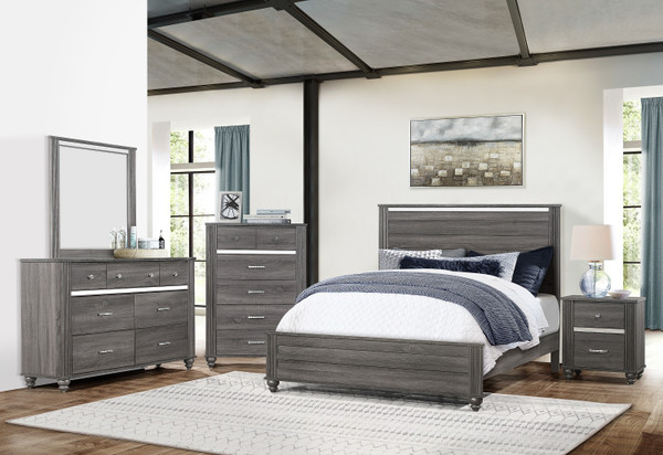 GREY GASTON BEDROOM SET