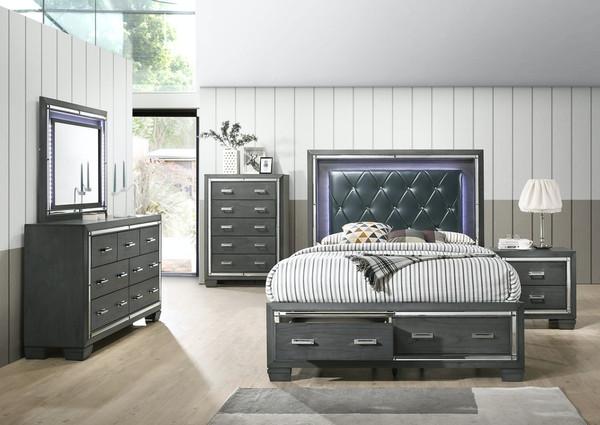 Titanium Bedroom Set