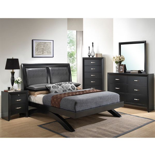 Crown Mark 4380 Galinda Black Bedroom Set