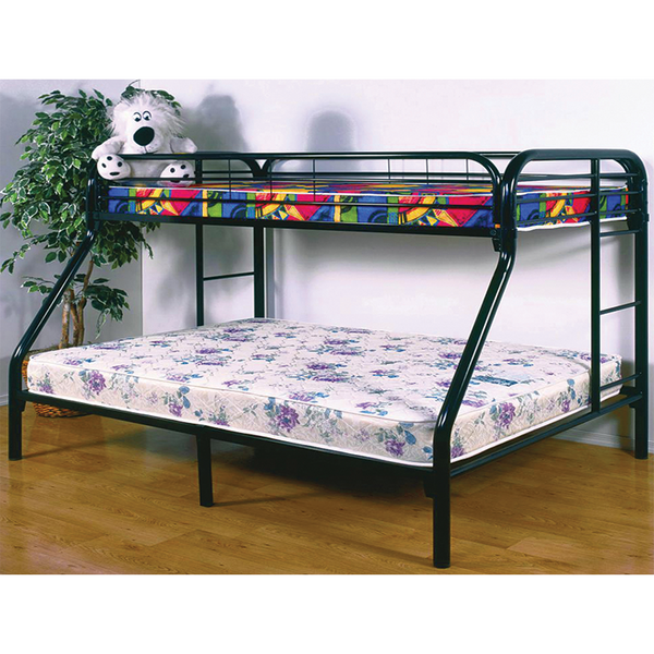 Donco 4502 Black Metal Twin Full Bunk Bed, Westbranch, Tx