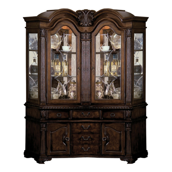 Crown Mark 2400 Neo Renaissance Buffet and Hutch