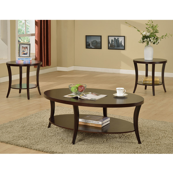 Crown Mark 4247 Rhonda Coffee and End Tables