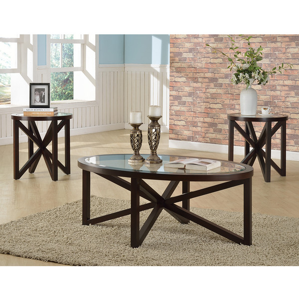 Crown Mark 4249 Cole Coffee and End Tables