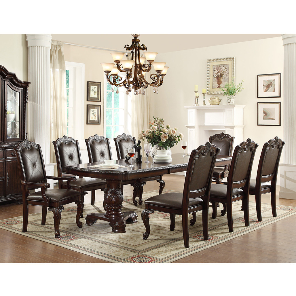 Crown Mark 2150-44108 Kiera Rectangle Dining Room Set