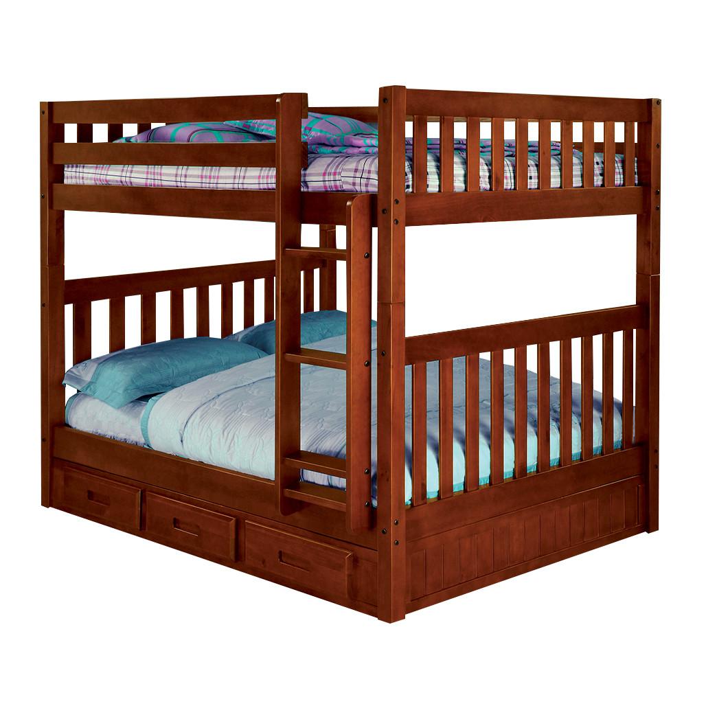 Full Full Merlot Bunk Bed