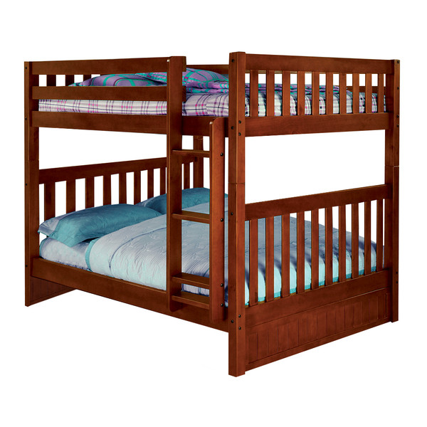 Full Full Merlot Bunk Bed