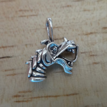 Small 3D Dragon Head Sterling Silver Charm!