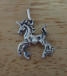 19x27mm 3D Magical Unicorn Sterling Silver Charm Pendant!