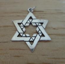 24x31mm Jewish Large Star of David Sterling Silver Charm