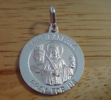 21mm Saint St Lazarus Medal Sterling Silver Charm